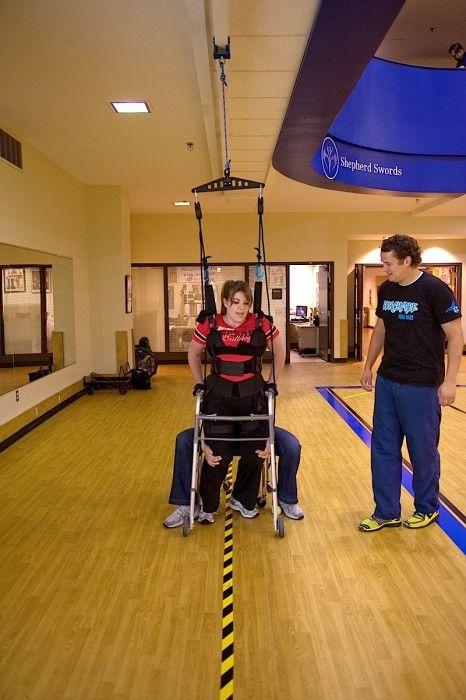 Body Weight Support Harness On Mounted Track Mob Pinterest