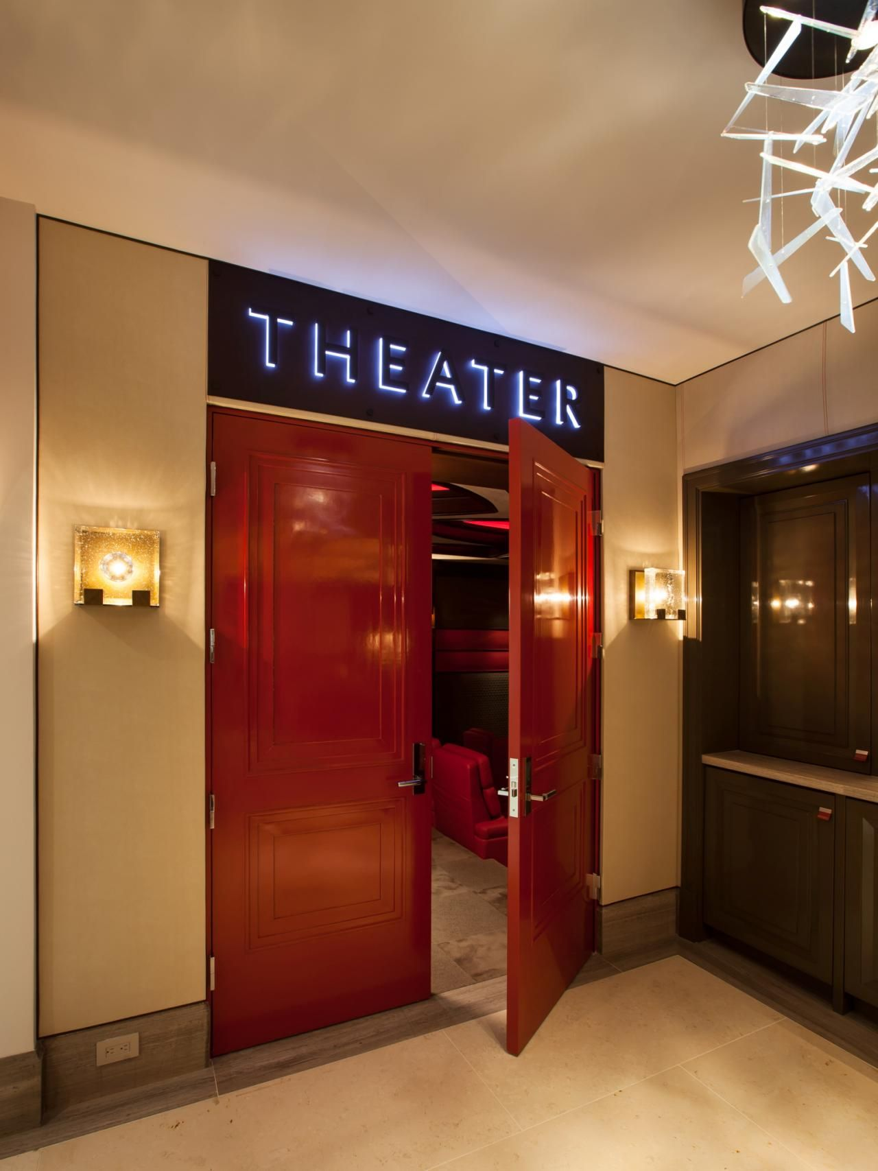Delicieux Home Theater Designs From CEDIA 2014 Finalists | HGTV Like The Doors But  Not The Sign