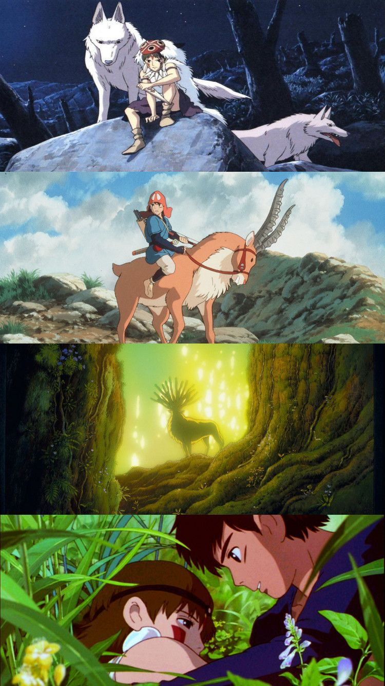 princess mononoke - ghibli - ashitaka and san - wallpaper | anime :d
