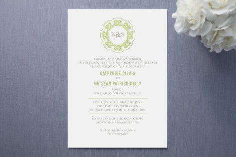 Wedding Invitation Idea Love The Simplicity And Celtic Knot