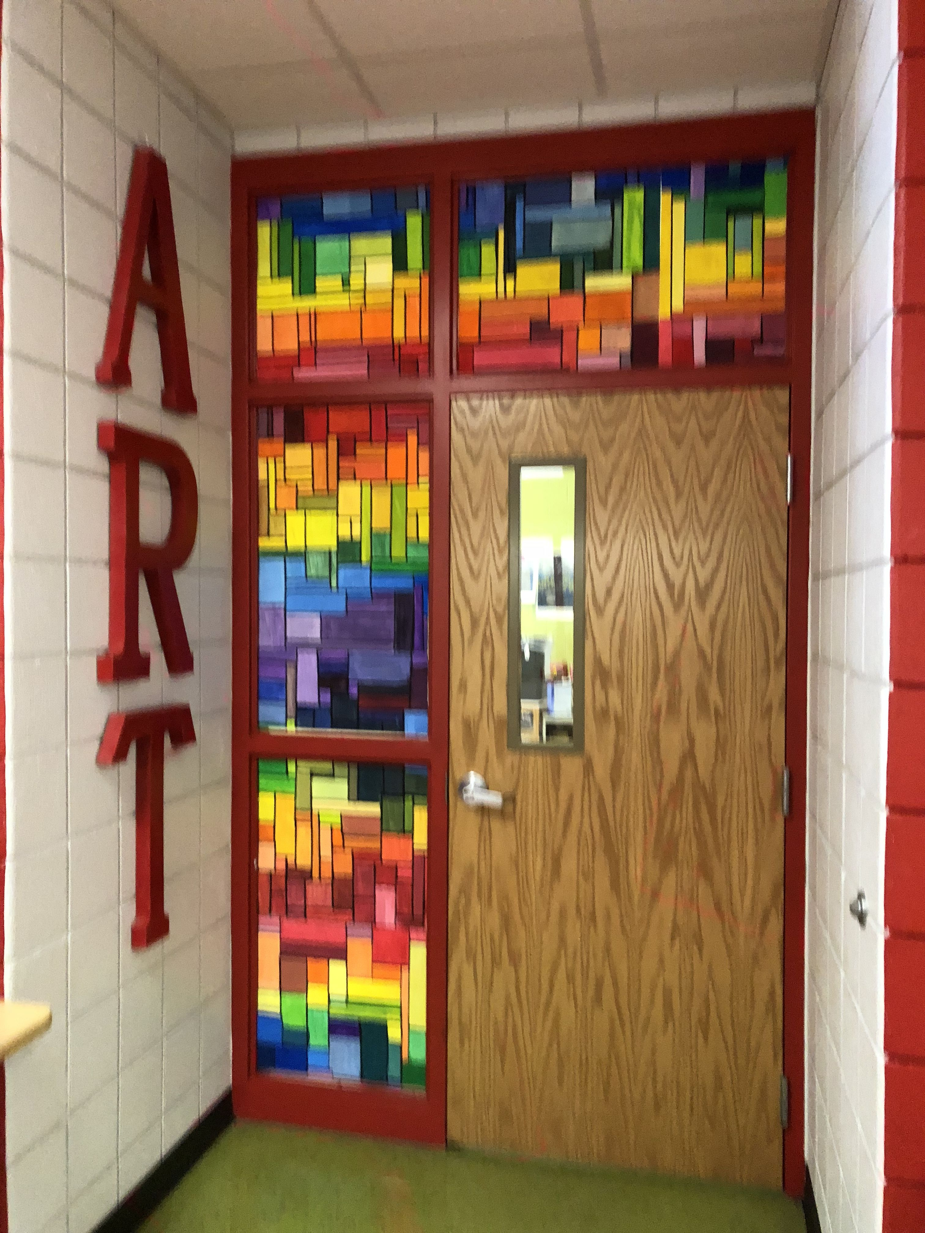 Classroom Door Painted As A Spectrum Art Classroom Door Art Classroom Classroom Decor