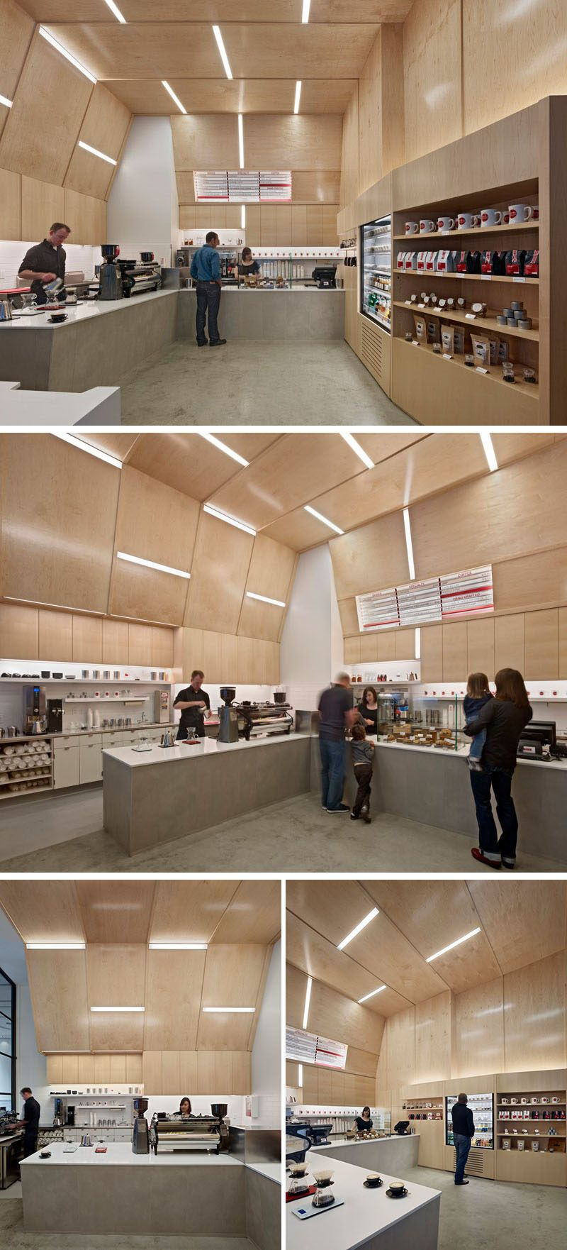 this coffee shop in san francisco is designed with an interior