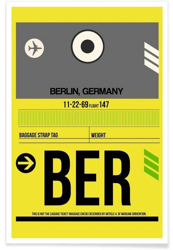BER-Berlin - Naxart - Premium Poster