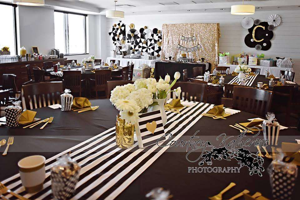 Black White Gold Baby Shower Party Ideas Black Gold Baby