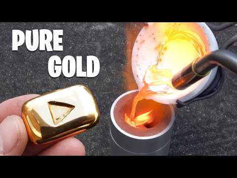 Casting Gold Youtube Play Button Youtube Play Button It Cast Gold Play Button