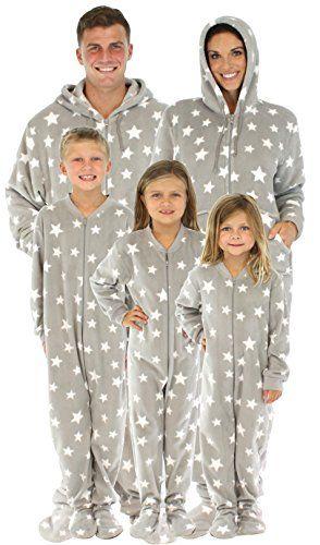 9eef0432eea SleepytimePjs Family Matching Footed Pjs Kids Stars-12KID... https