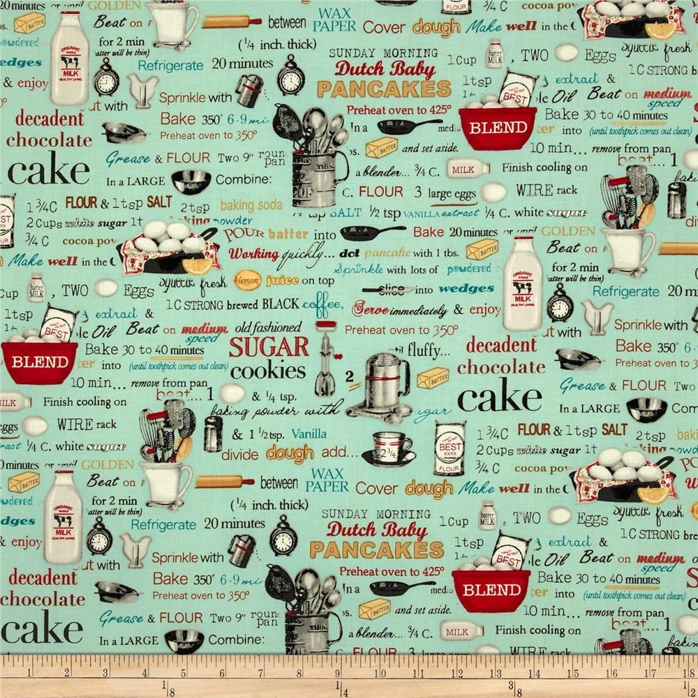 Kiss The Cook Recipes Retro Aqua--so Much Better Than The