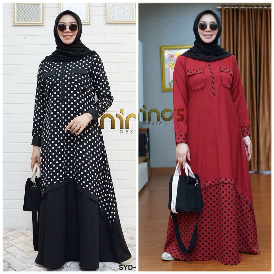 Baju Gamis Muslim NINOS DRESS Harga 12rb, belum termasuk ongkir