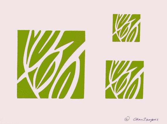 Paint Stencil - Leaves - Abstract Leaves - Craft Stencil - Fiber Art Stencil - Fabric Painting Stencil - CherScapes Wall Stencil -  DIY