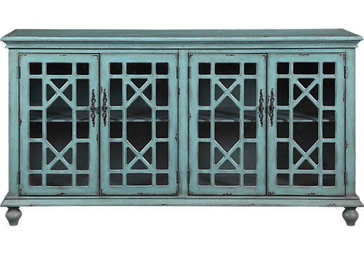 Best Shop For A Swansboro Blue Accent Console At Rooms To Go 640 x 480