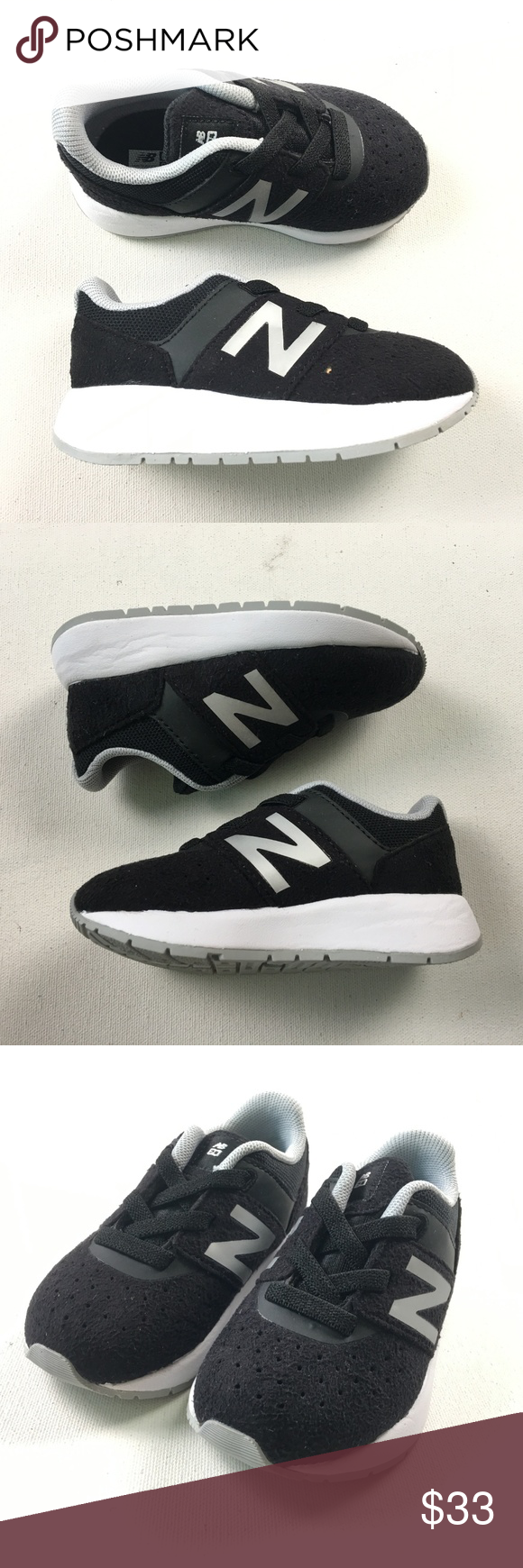 4e2f0394cccc New Balance Toddler Baby Kids KA24BSI Black White