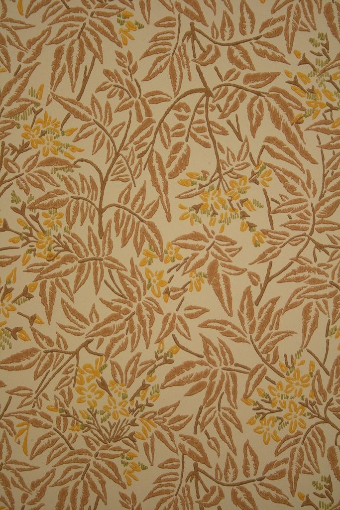 831 Vintage Retro Tapete Blumenmotiv Blatter Muster Floral Design Wallpaper Nature Wallpaper Floral Wallpaper