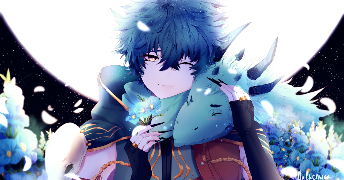 19 Best Anime 4k Wallpaper Wallpaper Anime Boy Dragon Blue Flowers 4k Anime 12984 Download Cute Anime Boy Anime Wallpaper Phone Anime