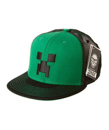 Buy Minecraft Creeper Face Snap Back Hat at Mighty Ape Australia. Minecraft  Creeper Face Premium Snap Back Cap Alas e6ce782b48b