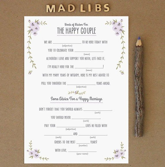Wedding Games For Guests: 31 Free Wedding Printables Every Bride-To-Be Should Know