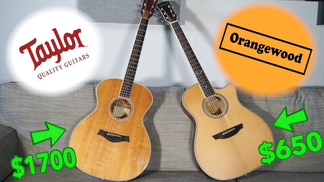 Orangewood Vs Taylor Acoustic Guitar Shootout Youtube Taylor Guitars Acoustic Guitar Acoustic Guitar