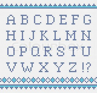 Super Sticken alphabet | Kreuzstich | Kreuzstichmuster alphabet JJ34
