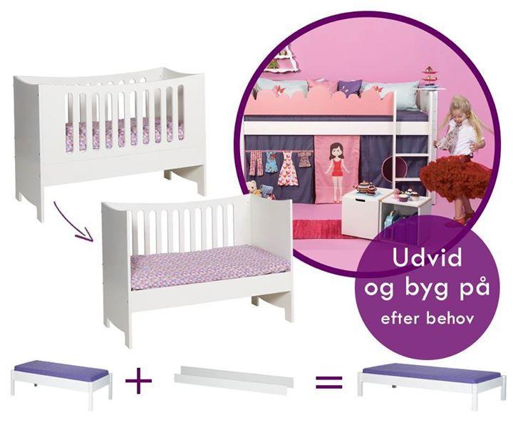 Skal dit barn have en seng, der holder i mange år?  Manis-h sengene er så smarte, at de kan vokse med dit barn :) Hvis du har en seng på 160 cm, så kan du tilkøbe et To-Grow-Kit og udvide sengen, så den får en længde på 200 cm!  Desuden kan den sød tremmeseng ombygges til en sød børnebænk, når dit barn vokser ud af sengen.  Se alle de søde senge, tilbehør og andre lækre kvalitetsmøbler fra Manis-h her: http://manis-h.babyshower.dk #baby #babies #adorable #cute #cuddly #cuddle #small #lovely…