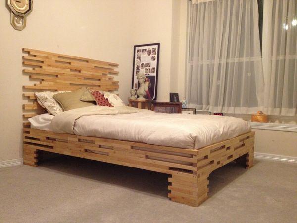 diy bedroom furniture. DIY Bed Frame On Legs Furniture Ideas For Bedroom #diy #pallets #bedroom # Diy