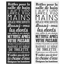Tableau - Règles pour la salle de bain … | Idées de salle de bain ...