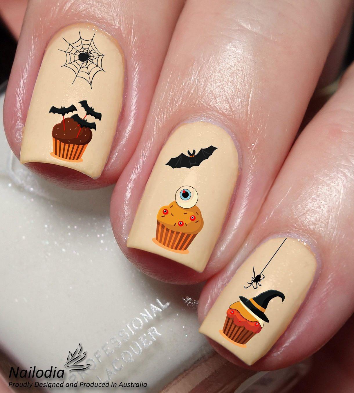Halloween nail art decals in 2020 | Halloween nail art ...