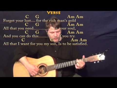 Simple Man (Lynyrd Skynyrd) Fingerstyle Guitar Cover Lesson with ...