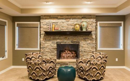 Basement Remodeling Indianapolis basement stonewall fireplace in indianapolis remodeledcaseindy