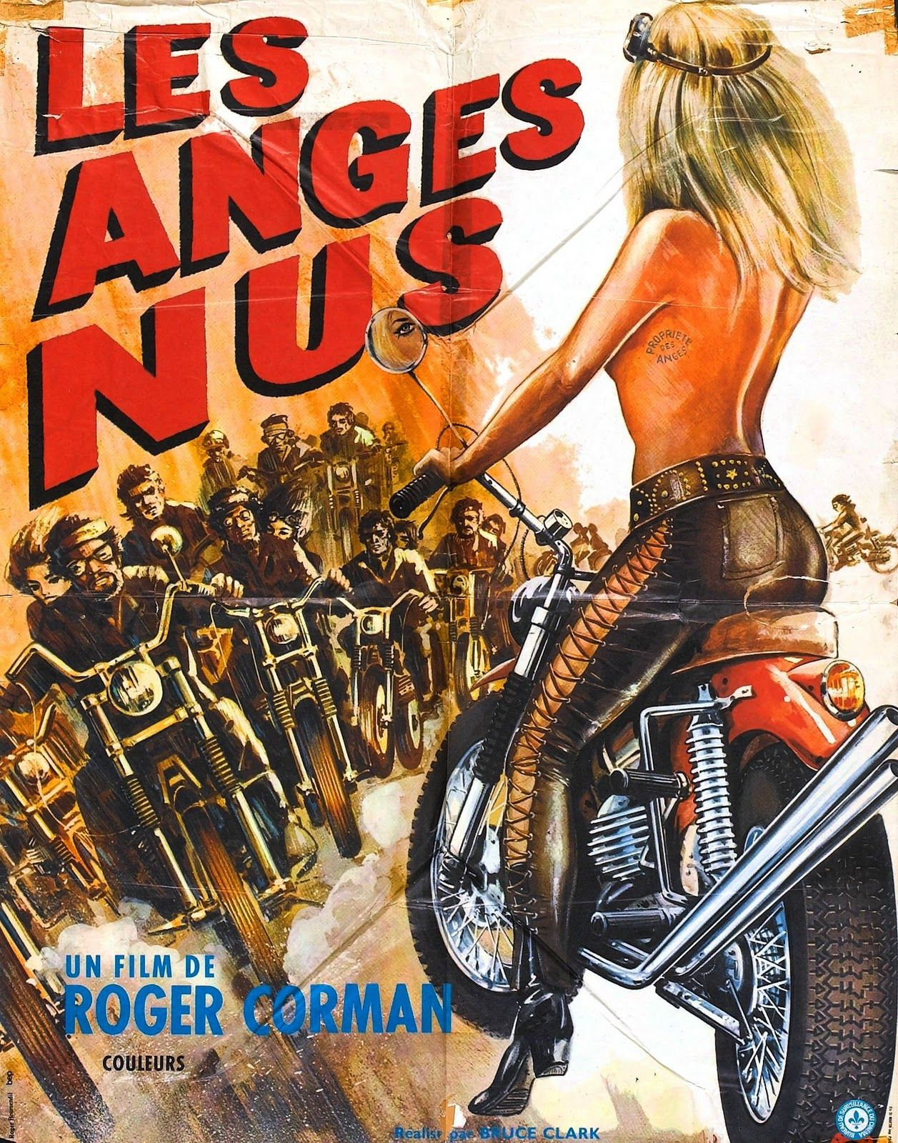 MOTORCYCLE 74: Biker movie poster - Naked Angels - Roger Corman