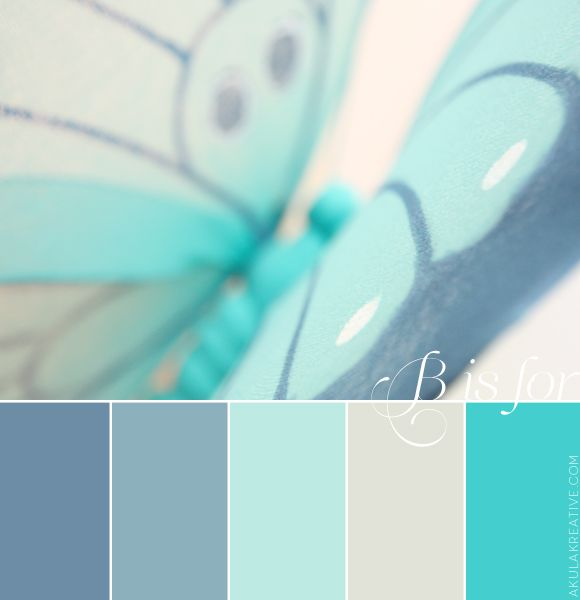 a color palette inspired by B // blue and butterflies