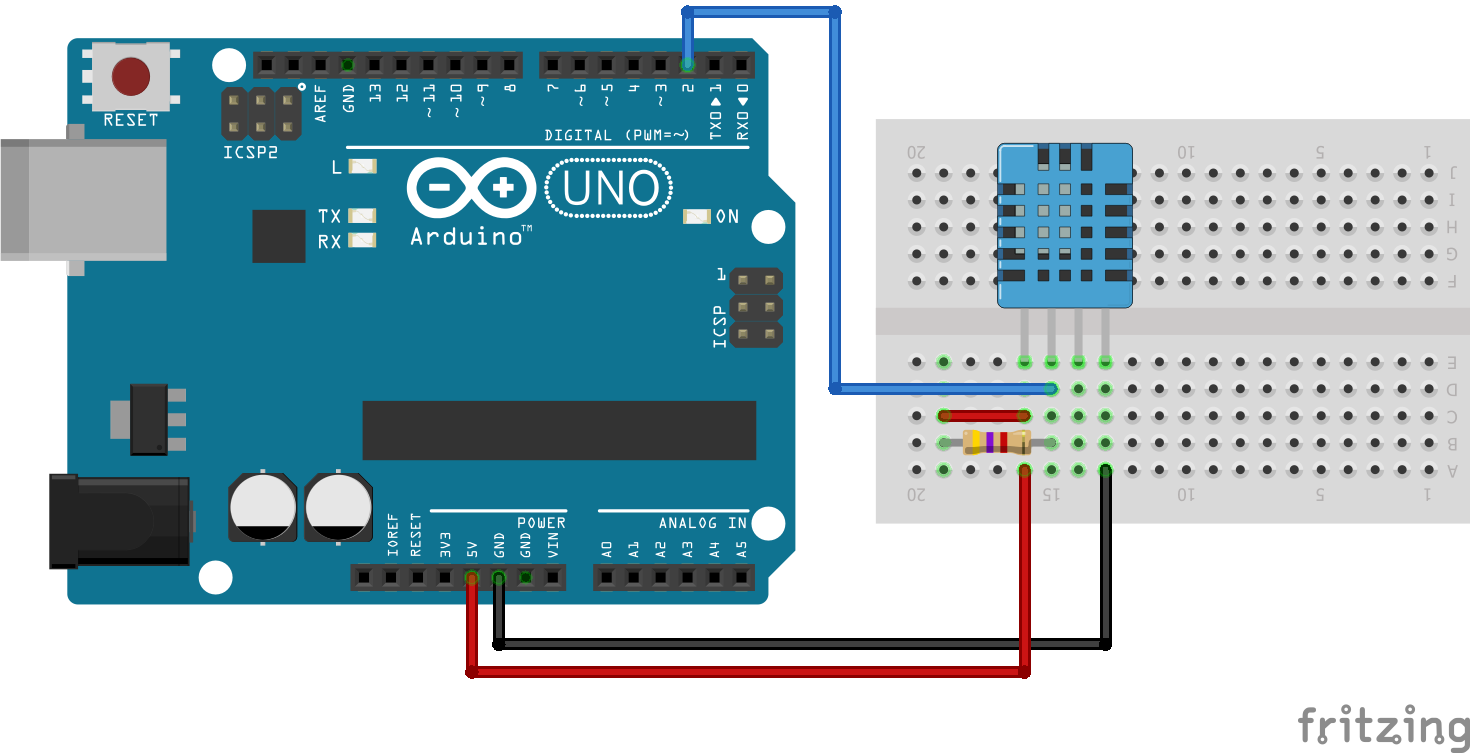 temperature and humidity interfacing with dht11 tutorial includes arduino dht11 library humidity sensor circuit diagram and dht code  [ 1470 x 753 Pixel ]