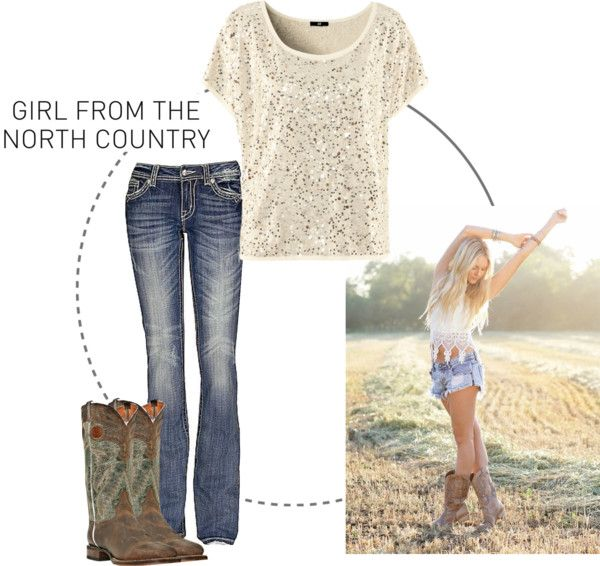 """North Country Girl"" by tuffbr on Polyvore. This would be more going out on the town kind of outfit."