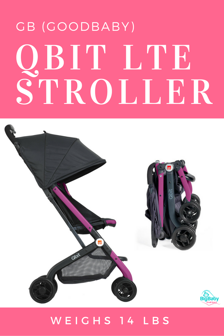 Sleek yet sturdy, the GB Qbit LTE compact stroller