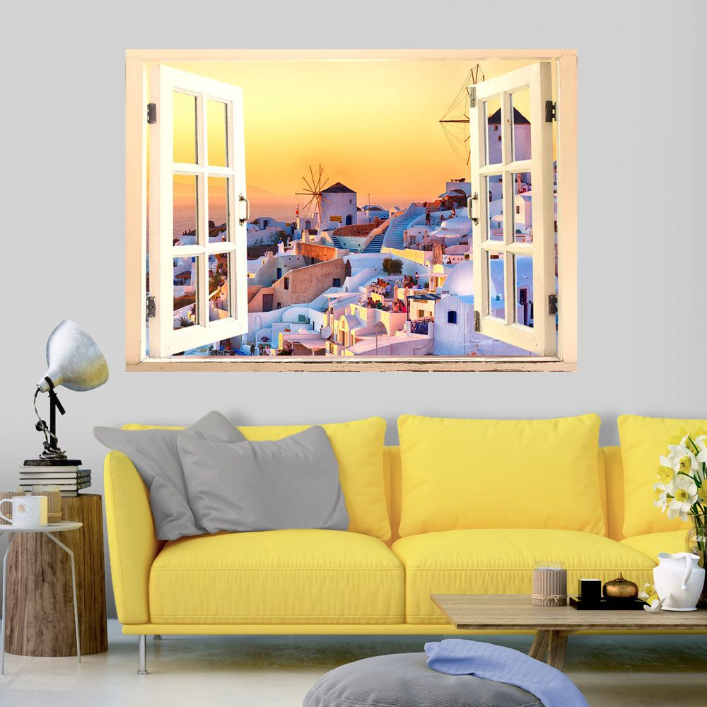 3d wall illusion wallpaper mural photo print a hole in the wall ...