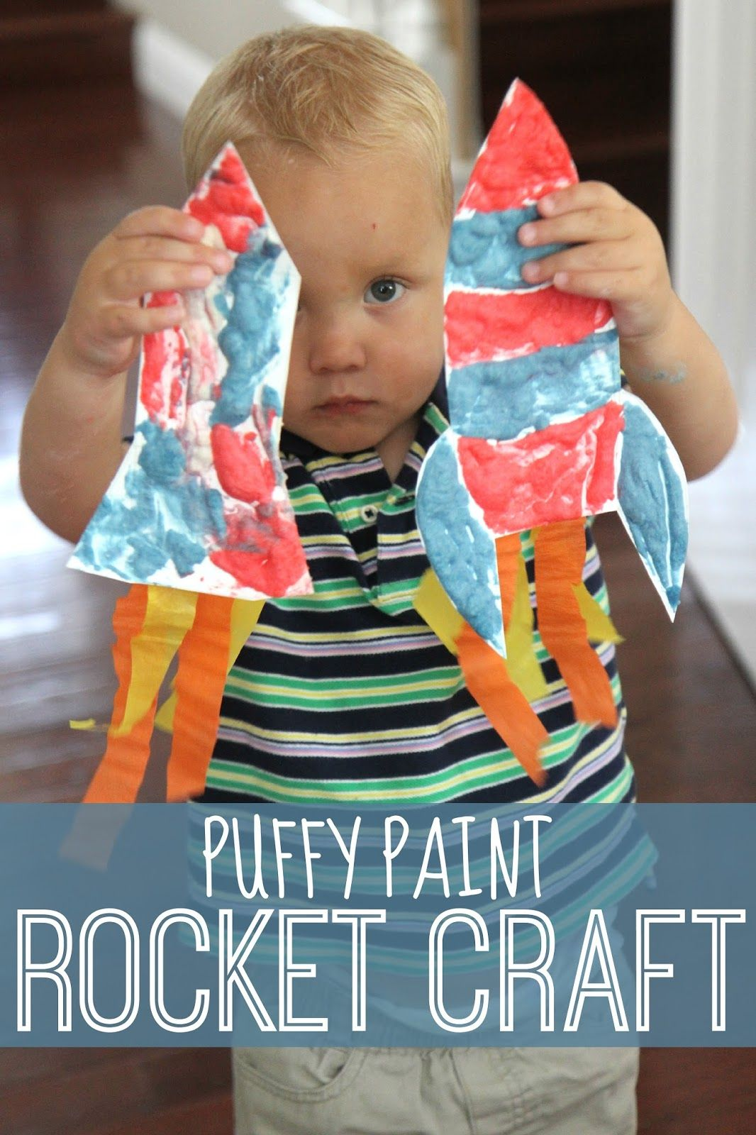 puffy paint rocket craft rocket craft puffy paint and kid