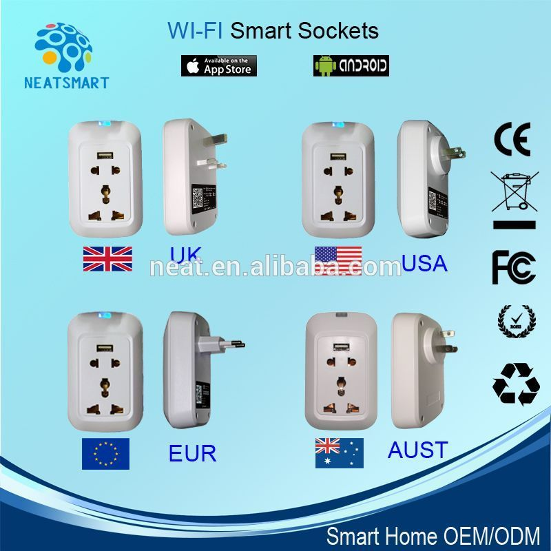 Smart home wifi smart stecker für Smart-Home-Automation, Wi-Fi ...