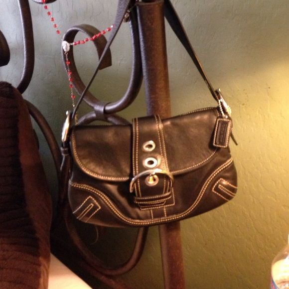 Coach original black leather purse | Black leather purses, 3) and ...