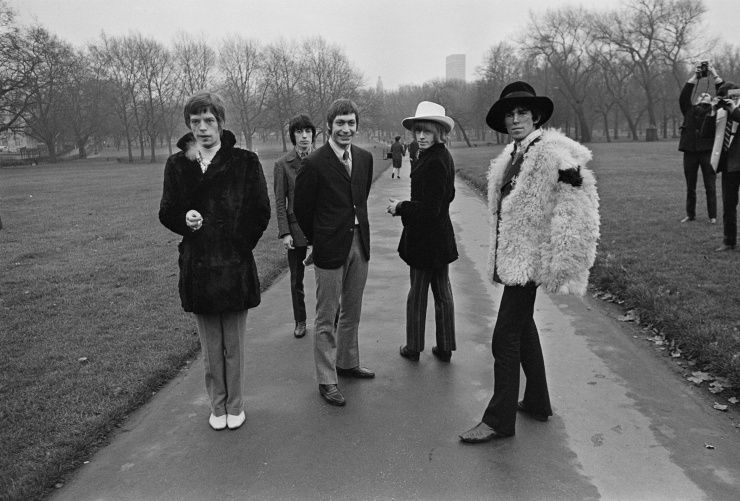 """The Rolling Stones - Albums: 4 Singles: 2 First induction: """"(I Can't Get No) Satisfaction"""" (1998) Most recent: """"Honky Tonk Women"""" (2014)"""