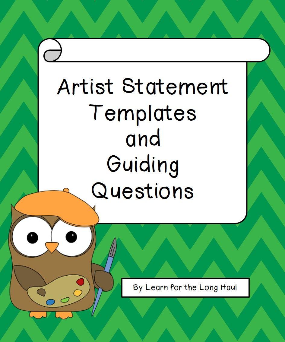 Artist statement templates artist statement template