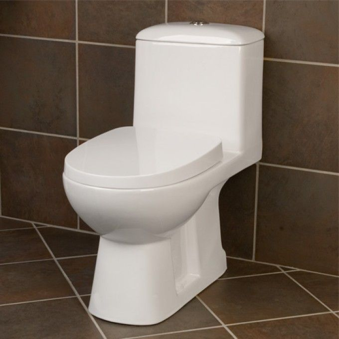 ahren dual flush elongated siphonic rear outlet onepiece toilet white