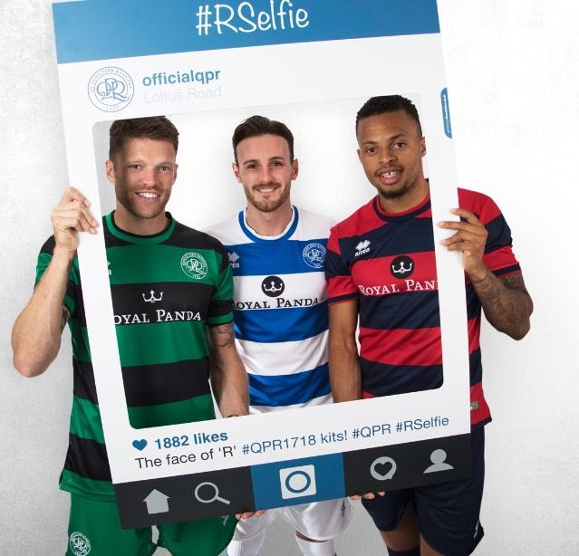 45d479fe Queens Park Rangers Home (Blue and white), Away (Red and Dark Blue ...