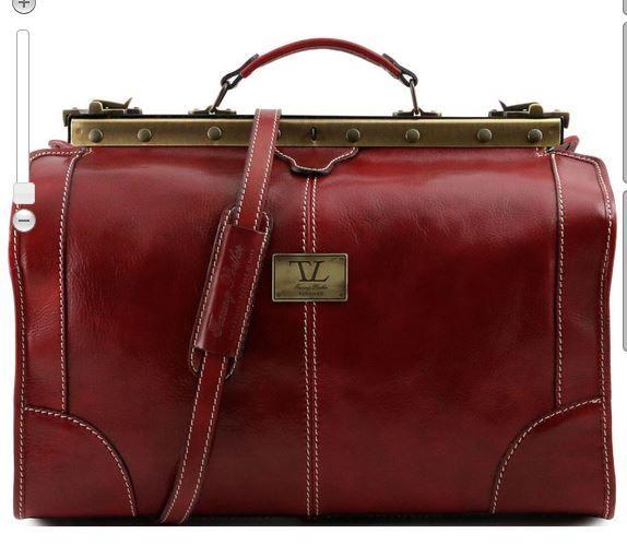 Tuscany Leather Madrid Sac de voyage en cuir - Petit modèle Rouge BnEfM