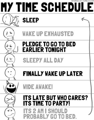 Unfortunately. This would be my real schedule! hahaha