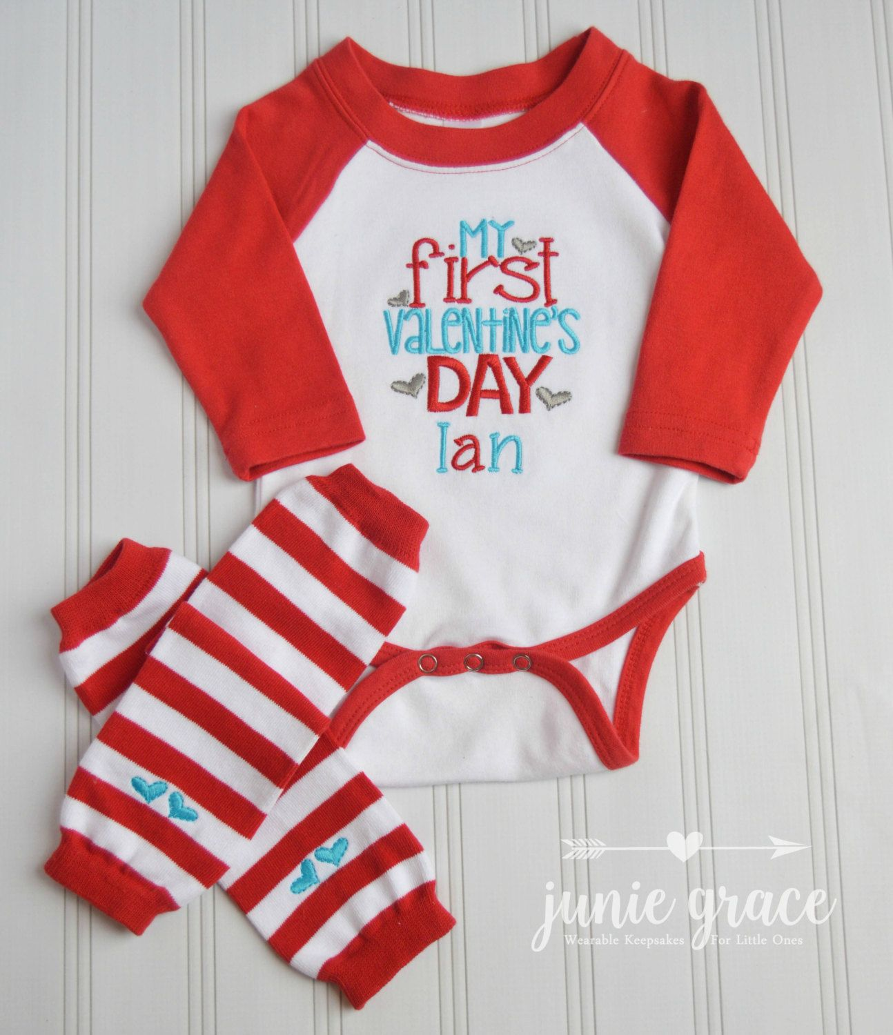 Baby Boy Valentines Day Outfit Baby Boy First Valentines Day Outfit
