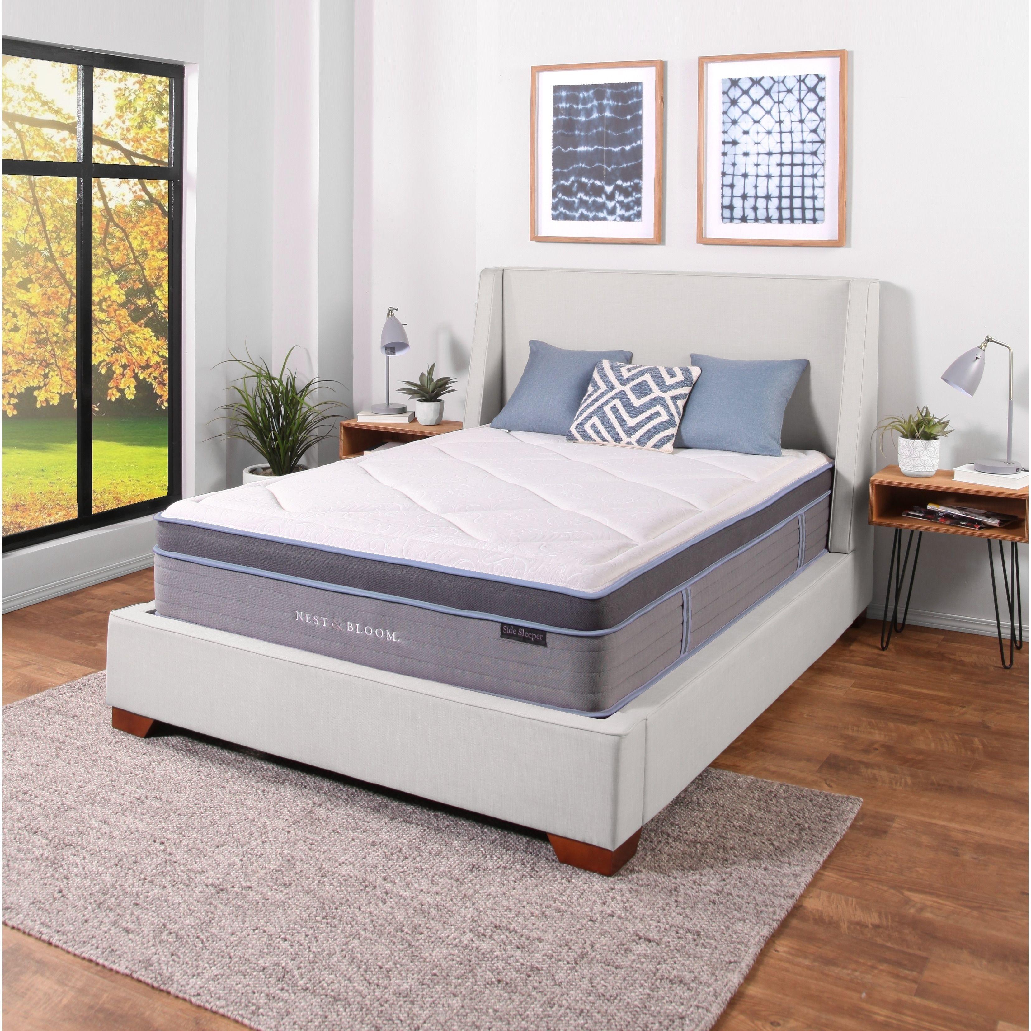 Nest Bloom 13 Side Sleeper Hybrid Tufted Mattress Bedroom Furniture Stores Mattress Sets Mattress Dimensions