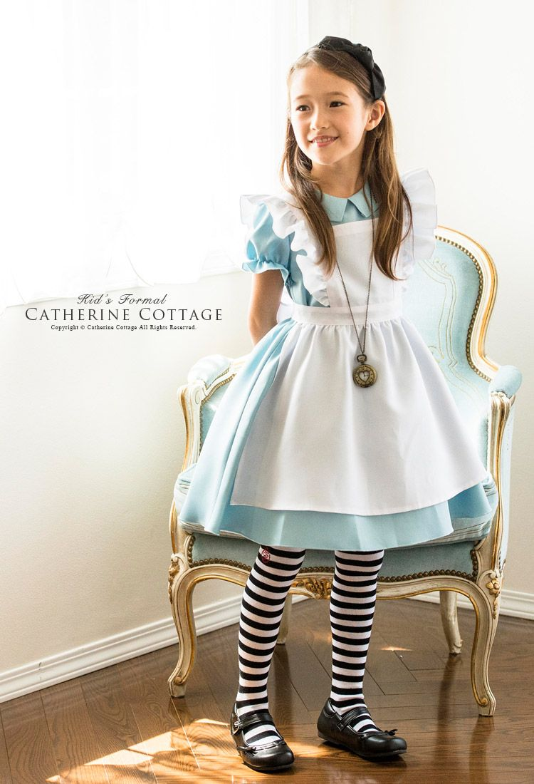 e00da88b34b8e 子供用 コスプレ 衣装 アリス コスチュームセット ワンピース エプロン 女の子 キッズ 子供 衣装