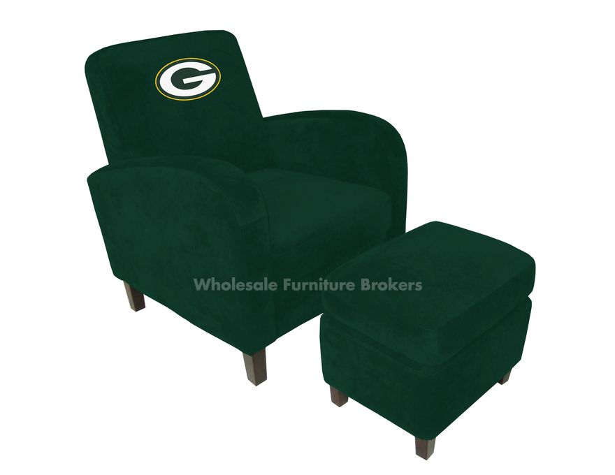Wee Little Packers Chairs And Ottomans For My Little Boys.