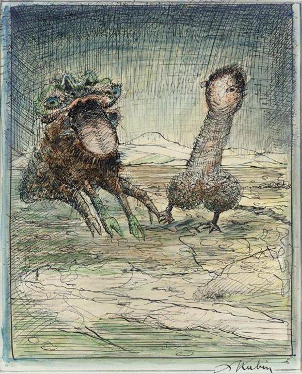 Alfred Kubin Demonios Austria Arte Genitales Con Imagenes