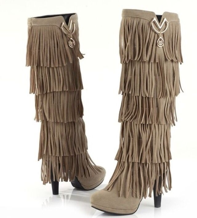 Brown Woman's tossed knee high motorcycle boots