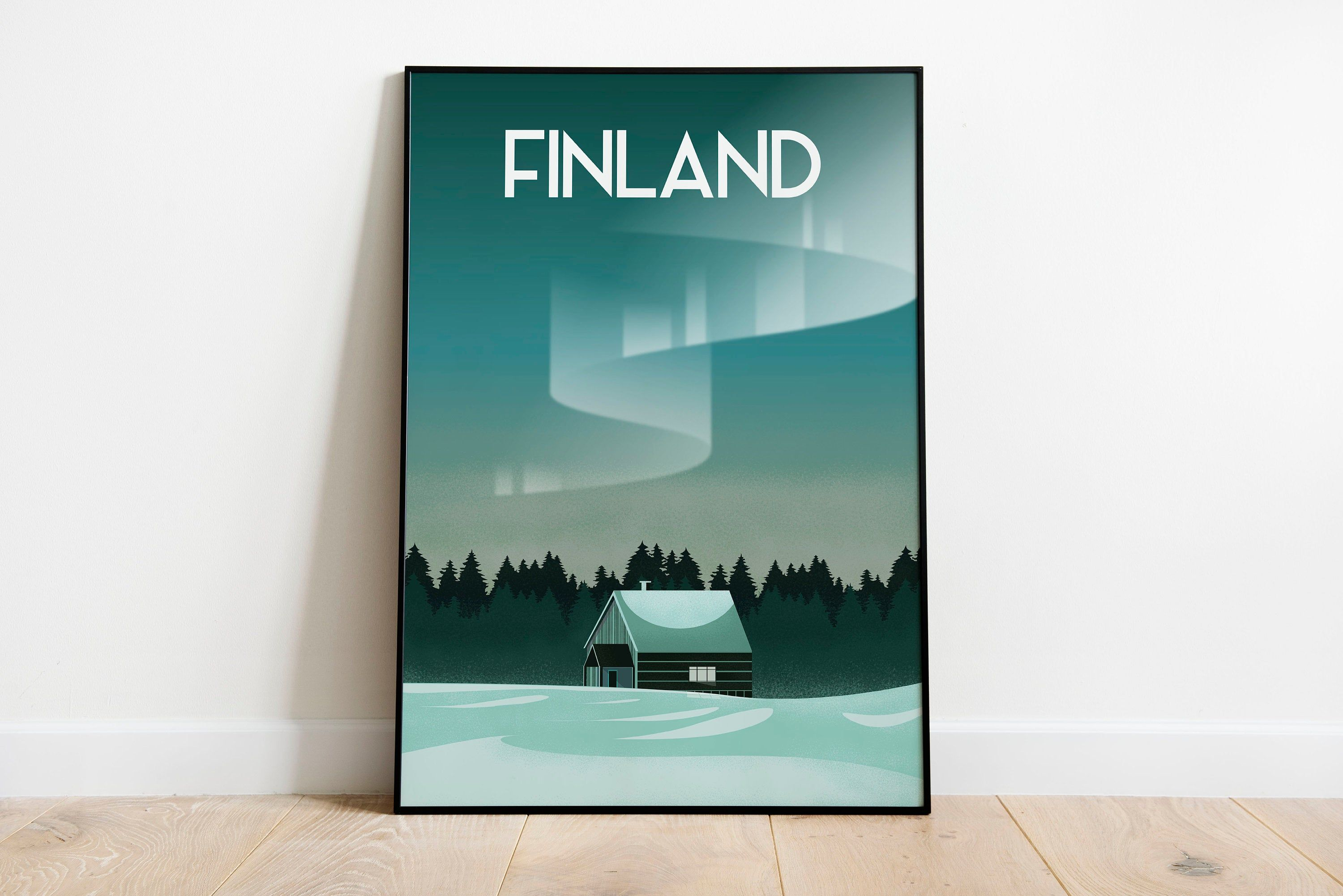 Finland Aurora Borealis Northern Lights Poster Print Sizes Inches 8x10 12x16 18x24 24x36 In 2020 Aurora Borealis Northern Lights Poster Prints Aurora Borealis