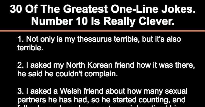 1 line jokes